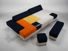 Tetris Couch. V fun design. Many possible permutations. #furniture