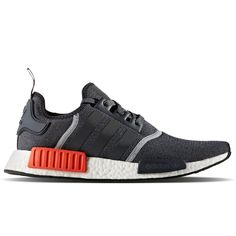 ADIDAS  NMD_R1 Wool  S31510 - Dark Grey/Semi Solar Red #adidas #AthleticSneakers