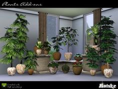 Plants by Mutske  http://www.thesimsresource.com/downloads/961559