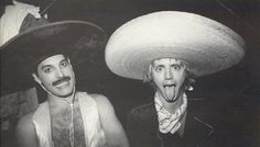 Queen in México City Mexico (Freddie Mercury and Roger Taylor).