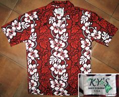 Hawaiian shirt by Ky's (made in Hawaii, USA) | bold, hibiscus pattern