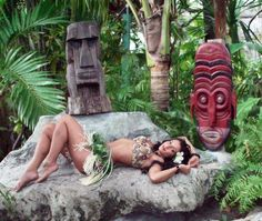 "Hawaii fantasy, throwing girls into the volcano. ""Tribal Sacrifice"" — with MeduSirena Marina."