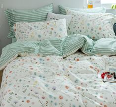 Sweet Flowers Bedding Set Notice:The bedding set only have quilt cover,bed sheet and pillow case Bed sheet Quiltcover Pillowcase Bed sheet Quiltcover Pillowcase 48 Duvet Bedding, Grey Bedding, Comforter Sets, Bedding Decor, Modern Bedding, Gold Bedroom Decor, 70s Bedroom, Bedroom Bed, Master Bedroom