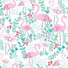 Dear Stella House Designer - Lifes A Beach - Lets Flamingle in White