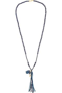 Chan Luu Lapis Lazuli Beaded Necklace, $195 at Net-a-Porter. We love the bold color of this necklace against an otherwise monochrome look. It works alone or layered with other necklaces.