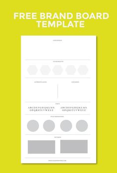 Create a cohesive brand identity by creating a brand board. Keeping all your brand elements together makes it easier when collaborating with others in the future on design projects.