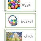 Easter words that can be used for a word wall or put in a writing center.  Great for Pre-K or Kindergarten students.   Easter pattern worksheet is ...