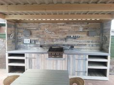 Paleta de construcción al aire libre Cocina con Paletas