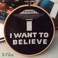 Floss & Fleece: Free printable X-Files cross-stitch chart