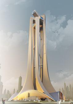 "Architecture School Tower ""PERI5COPE"" | Niculae Grama, Valentin Ionascu, Mihai Chisarau and Marius Pandele"