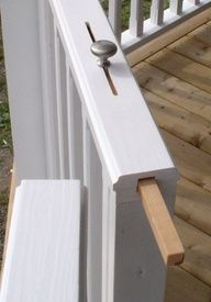 Slide lock for deck - what a cool idea!