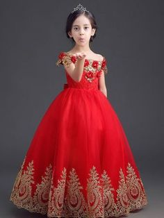 37971a28cfdc Exquisite Red Princess Ball Gown