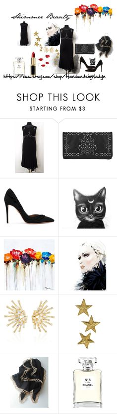 """""""Shimmer Beauty"""" by nadya-mendik ❤ liked on Polyvore featuring Abro, Aquazzura, Yosemite Home Décor, Carol Kauffmann, Chanel and vintage"""