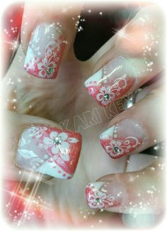 Hibiskus nail art