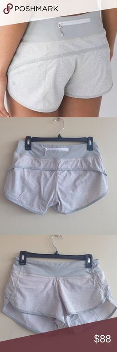 Like New! Lululemon Freckle Flower Speed Shorts 4 Like new! Lululemon Freckle Flower Speed Shorts. Size 4. Super Rare Print!! White Seal Grey Color. Price reflects its rarity! lululemon athletica Shorts