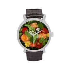 Bouquet multicolored wrist watches