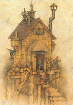 GNOME HOMES   Gnomes have great imagination as builders and make use of any material that comes to hand. Often they have to disguise their homes of course, so no human passers-by will notice, but it is surprising how many odd corners are left untouched by humans, even in cities. Behind garden sheds and factory walls and tangled banks of bramble, there's many an odd corner where gnomes can build their houses and even mansions, and none but the odd passing cat or mouse will notice.   As a…
