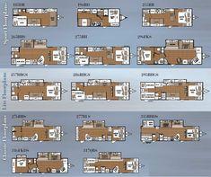 12 Rv Floorplans Ideas Rv Travel Trailer Floor Plans
