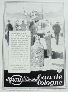 """1930er Jahren echte französische Ad - Parfüm-Werbung """"4711"""" (Lutz Ehrenberger)"""