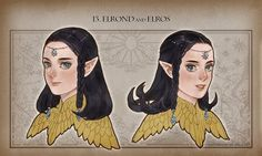 Elrond y Elros Lotr Movies, Elf Drawings, Lotr Cast, Fantasy Characters, Disney Characters, Into The West, Jrr Tolkien, Dark Lord, Fantasy World