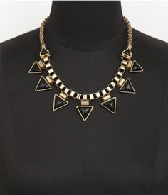 Express black and gold necklace
