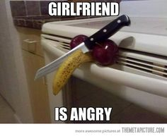 Angry girlfriend…