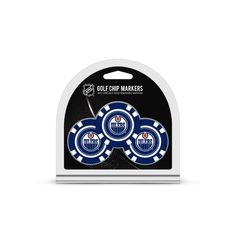 Team Golf Edmonton Oilers Poker Chip and Golf Ball Marker Set - Golf Equipment, Collegiate Golf Products at Academy Sports