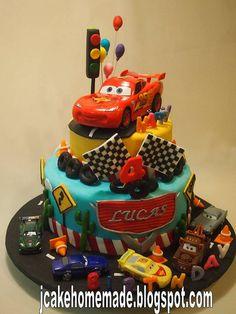 Lightning mcqueen birthday cake by Jcakehomemade, via Flickr