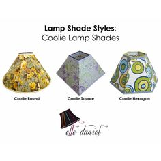 Wondering what a coolie lamp shade is? Check these out! 703-623-5952 | www.elledaniel.com | www.etsy.com/shop/elledaniel. #LampShades #Custom #Designer