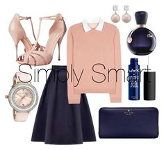 """Simply Smart"" by kimbo20111 ❤ liked on Polyvore featuring Coast, RED Valentino, Alexander McQueen, Kate Spade, Lacoste and Ted Baker"