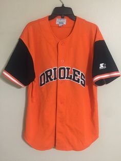 33a8a401927 Vintage Baltimore Orioles MLB Baseball Starter Embroidered Jersey -Men s  Large L   24.99 End Date