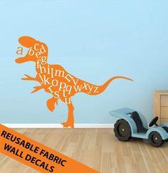 REUSABLE Alphabet Dinosaur Fabric Vinyl by DelicateExpressions