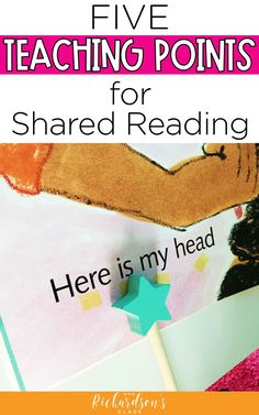 5 Teaching Points for Shared Reading - Mrs. Richardson's Class