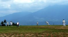 """If you moved to Indonesia, loved cricket, what would you do? You'd carve off the top of the mountain and create one of the most beautiful cricket pitches in the world.  That is what Kiwi Robert """"Baldy"""" Baldwin has done at his home in the stunningly beautiful volcanic hills south of the former Dutch colonial town of Bogor.  The ground has seen some pretty decent players too. Glen McGrath, Robin Smith, Nantie Hayward, Chris Cairns and Graham Yallop graced the venue."""