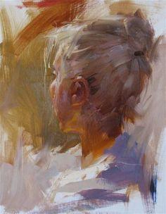 """Head Study 052012"" - Original Fine Art for Sale - © Qiang Huang w"