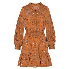 Yoins Yoins Tie Neck Mini Dress (38 CAD) ❤ liked on Polyvore featuring dresses, camel, short dresses, orange dress, tie neck tie, mini dress and orange necktie