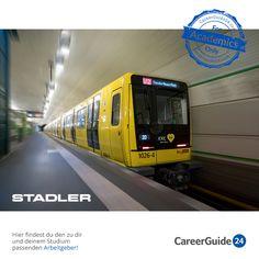Die Stadler Pankow GmbH ist in der Fahrzeugbaubranche tätig und beliefert neben Berlin und Brandenburg auch das weitere In- sowie das Ausland mit Zügen des Personalverkehrs. Du findest hier ein vielfältiges Angebot für deinen Einstieg in die Arbeitswelt.
