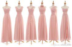 2014 Elegant V-Neck/Strapless/Sweetheart/Halter Sleeveless Floor-Length Ruffle Zipper A-Line Long Wedding Bridesmaid Dresses, $65.31 | DHgate.com
