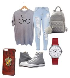 """""""potter girl"""" by asner-bond ❤ liked on Polyvore featuring Converse"""