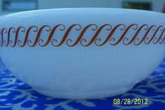 $22.49 http://www.ebay.com/itm/4-Pyrex-Corning-Double-Tough-S-Pattern-White-Brown-Cereal-Soup-Bowls-/111032775885?ssPageName=STRK:MESE:IT