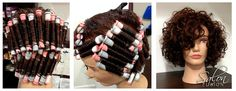 Becky from Salon Fusion, OH, did a vertical wrap with pink and grey rods on…