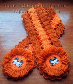 knitting and crochet Crochet Kids Scarf, Crochet Scarves, Crochet For Kids, Crochet Clothes, Free Crochet, Knit Crochet, Crochet Hats, Craft Gifts, Handicraft