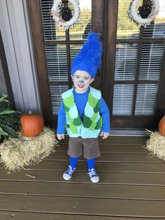 Toddler Halloween Costumes Ideas and Inspirations ⋆ BrassLook Best Toddler Halloween Costumes, Troll Halloween Costume, Matching Halloween Costumes, Halloween 2018, Halloween Kids, Sibling Costume, Boy Costumes, Number 3, Poppy