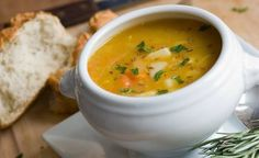 Simple Soup w/ Carrots & Parsnips: Here's a simple soup that's beautiful in its simplicity—a basic broth brimming with a sweet and springlike combination of tender vegetables. Easy Soup Recipes, Vegan Recipes, Cooking Recipes, Easy Cooking, Vegan Food, Sopas Low Carb, Cooking Chicken To Shred, Organic Chicken, Korma