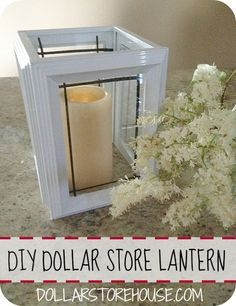 picture frame lantern centerpieces - Google Search
