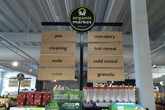 end cap display aisle signs   MARKET - End Cap Aisle Signs for Stores - Includes Custom Signs!