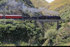 1271 Steam Incorporated Steam at Near Woodville, New Zealand by John Russell News Around The World, Around The Worlds, Rise From The Ashes, Art Deco Buildings, Train Pictures, Wonderful Places, New Zealand, Countryside, Island