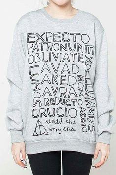fea7fb4db Harry Potter spells sweat shirt Moletom Harry Potter