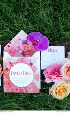 Bright Floral Wedding Stationery - Summer Wedding Inspiration