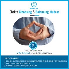 Throat chakra is a crucial spiritual force; Confident self-expression, creativity, and self-understanding are all critical functions of the throat chakra. Practice Meditation through Heal My Life Kundalini Meditation, Meditation Benefits, Meditation Music, Yoga Benefits, 6 Chakra, Throat Chakra Healing, Hand Mudras, Chakra Affirmations, Yoga Anatomy